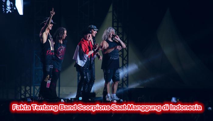 Fakta Tentang Band Scorpions Saat Manggung di Indonesia
