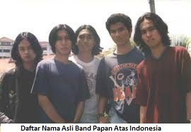 Daftar Nama Asli Band Papan Atas Indonesia